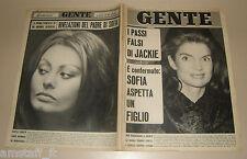 GENTE 1966/51=JACKIE KENNEDY=SOPHIA LOREN=SHAMU ORCA=MILA STANIC=UGO FASOLO=