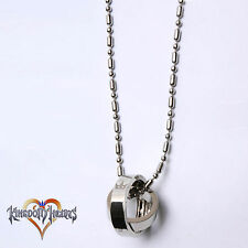 Kingdom Hearts 2 Crown Rotating Ring Pendant Key Blade Necklace Chain For Gift