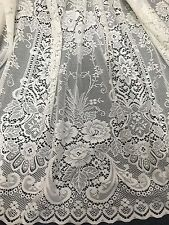 STUNNING Australian  LACE-IVORY-300cm drop Unheaded-Empress-Filigree -continuous