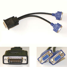 DMS-59 59-Pin Male to Dual VGA Female Y Splitter Video Card Adapter Cable Cord