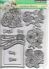 New Penny Black RUBBER STAMP Clear set FREE USA SHIP SUNSHINE FLOWERS