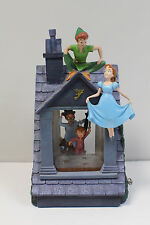 Large -  Disney Peter Pan You Can Fly -  House Snow Globe - Works Great
