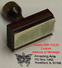 Celtic Butterfly Rubber Stamp With Your Custom Address