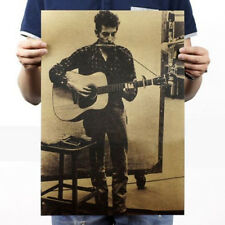 Kraft Paper Bob dylan Pop Music Rock Band Stars Poster Placard Pub Wall Decor
