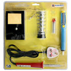 30W SOLDERING IRON KIT SET WIRE DESOLDER PUMP STAND SPONGE 240V WATT QUALITY NEW