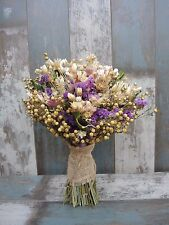 Wedding Dried Flowers Bridal Bouquet Mother's Day Natural Rustic Country Harvest