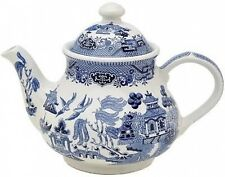 CHURCHILL BLUE WILLOW TEAPOT 2pt - NEW/UNUSED