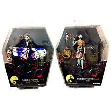 "Disney Burton NBX Nightmare before Xmas 6"" toy figure set JACK & SALLY RARE"
