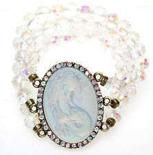 KIRKS FOLLY LORELEI DIVA MERMAID STRETCH BRACELET  BT/ CRYSTAL AB