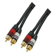 12Ft High Performance 2 RCA Male to Male Audio Interconnect Cable - Gold Plated