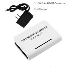 Audio VGA to HDMI 1080P Full HD HDTV Video Converter Adapter Box for Laptop PC !