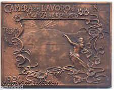 CAMERA DEL LAVORO MONZA TESSERA 1904 PLACCA 90° ANNIVERSARIO 1983