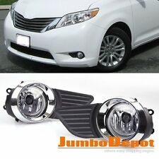 US Front Bumper Grille Fog Light w/Switch+wiring Set Fit for Toyota Sienna 11-15