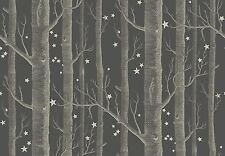 COLE & SON WOODS & STARS WALLPAPER 103/11053 DARK CHARCOAL ALL BATCH F