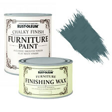 Rust-Oleum Chalky Furniture Paint Chic Shabby 750ml Belgrave & 400ml Clear Wax
