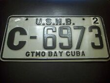 USA MILITARY NAVAL BASE FOREIGN LICENSE PLATE UNITED STATES NAVY GTNM BAY