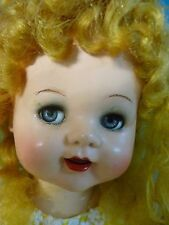 "SAUCY WALKER DOLL ~ ""GORGEOUS"" BRIGHT BLONDE -22"" ~BENDED KNEES + DOLL STAND"