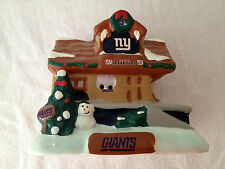 NY NEW YORK GIANTS TEAM TRAIN STATION RAILWAY HOLIDAY VILLAGE CHRISTMAS HOUSE
