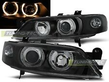 NEW TOP SET HEADLIGHTS LAMPS LPOP84 OPEL VECTRA B 99-02 ANGEL EYES BLACK