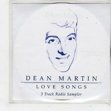 (FQ637) Dean Martin, Love Songs 3 track sampler - 2002 DJ CD