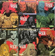 THE WALKING DEAD #157-162 WHISPERER WAR REG COVER SET SIGNED BY CHARLIE ADLARD