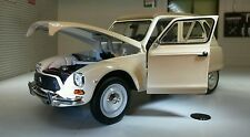 G LGB 1:24 Scale Citroen 2CV Dyane Diecast Detaild Model Beige Leo Whitebox 1978