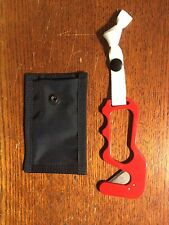 Open Handle Hooker Red Paramotor and Paraglider Hook Knife for Water Safety!
