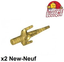 Lego - 2x minifig arme weapon sai couteau knife or doré/pearl gold 98139 NEUF