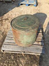 Antique Large Copper Water Wash Basin Early Machine Cauldron Pot Kettle Vintage