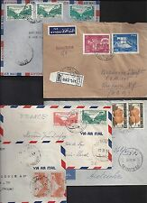 LEBANON 1940 1950 COLLECTION OF SIX COVERS INCLUDES REGISTERED ALL DIFFERENT BEI