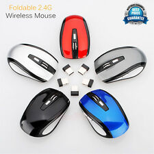 2,4 GHz Inalámbrico Ratones Sin cables Scroll Óptico Ordenador Mouse Plegable