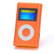 USB Mini Mode MP3 Player LCD Screen Support 32GB Micro SD TF Card Orange