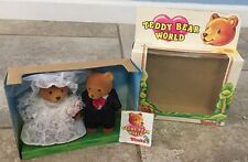 "Collectible Teddy Bear World Simba Toys Honey Moon Bride & Groom 4.5"" Bears"