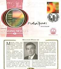 1 FEB 2000 FIRE AND LIGHT BENHAM SMALL SILK FDC SIGNED MICHAEL WICKS MP
