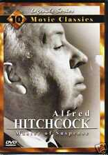 ALFRED HITCHCOCK, MASTER OF SUPENSE: 10 MOVIE CLASSICS~NEW, SEALED 2-DVD SET