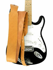 """Genuine Leather Strap for Electric Acoustic Bass Guitar Brown 2.7"""""""
