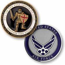 U.S. Air Force / Armor of God - USAF Brass Challenge Coin