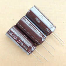 Big sale 1lot/10PCS Nichicon PW 2200uF 63V 105c Aluminum Electrolytic Capacitor