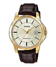 Casio MTP-V004GL-9A Mens Analog Leather Watch MTPV004GL-9A Paypal