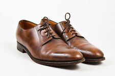 MENS John Lobb Light Brown Distressed Leather Lace Up Oxfords SZ 9.5