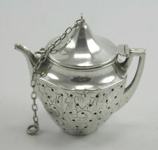 Early 20th century American Webster Company .925 sterling silver tea infuser