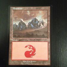 MTG MAGIC CARTE PROMO EURO LAND BLUE - MOUNTAIN (ITALY)