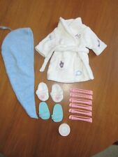 American Girl Spa Robe Slippers Towel Curlers Shoes Mask 2002 Retired