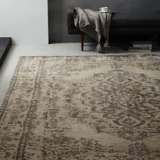 """NEW West Elm Distressed Arabesque 6"""" x 9"""" Wool Rug~Neutral~Pottery Barn~"""