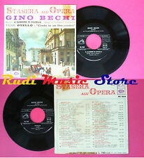 LP 45 7''GINO BECHI Stasera all'opera ROSSINI Barbiere VERDI Otello no cd mc dvd