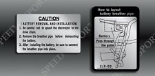 YAMAHA 1987 87 88 1988 TW200 TW 200 WARNING CAUTION BATTERY DECALS GRAPHICS