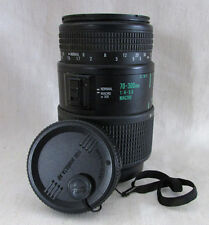 Quantaray Tech-10 MX AF Macro Lens, 70-300mm, 1:4 - 5.6, Made in Japan, Untested