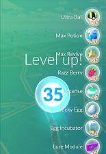 Pokèmon-go-account lvl. 35, 2 million stardust rare pokemon 1 & second gen 3000+