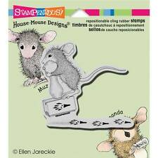 New HOUSE MOUSE RUBBER STAMP cling MAKING PRINTS PAW MARKS Free us ship