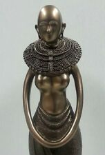 African Masai Maiden Statue Black Tribal Goddess Figurine #6555